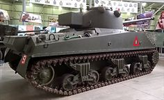 Sherman  Vc Firefly  ( M4A4 with an OQF 17 Pounder gun ) Bovington Tank Museum