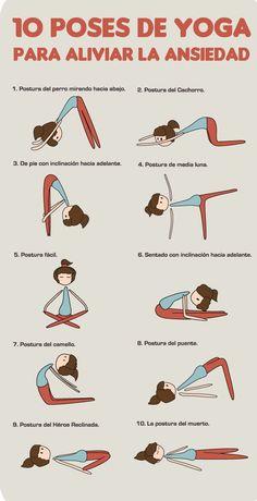 10 Poses de yoga para eliminar la ANSIEDAD                                                                                                                                                                                 Más