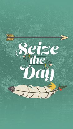 Seize The Day. iPhone wallpapers typography quotes. Tap to see more iPhone backgrounds! - @mobile9