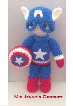 Crochet Captain America Amigurumi