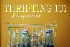 Thrifting 101: all the important stuff! via Life as a Thrifter