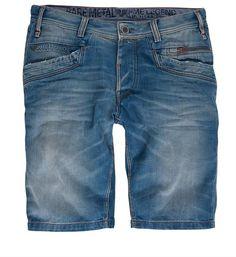PME Legend denim short / korte broek, model Heard Bare Metal Shorts. Deze short heeft een curved leg, low frontrise en normal backrise - Heard Bare Metal - NummerZestien.eu:
