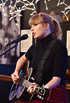 Taylor Swift performing at the Bluebird Cafe on March 31, 2018 in Nashville, Tennessee.