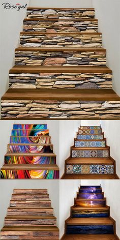 23 Clever DIY Christmas Decoration Ideas By Crafty Panda Tiled Staircase, Staircase Wall Decor, Staircase Makeover, Stair Decor, Staircase Design, 3d Home Design, Small Space Interior Design, Interior Design Kitchen, Escalier Art