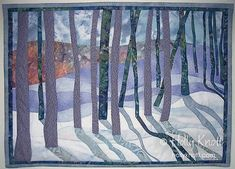 Snow Shadows 2, 25″ x 18″. By Holly Knott