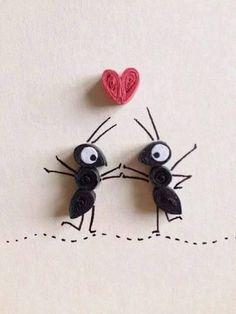 Paper Quilling Art Ants