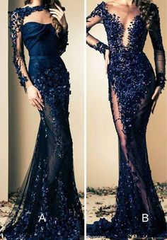 Mermaid Long Sleeves Beaded Lace Modest Fashion Prom Dresses, evening - -Blue Mermaid Long Sleeves Beaded Lace Modest Fashion Prom Dresses, evening - - Luxury Arabic Evening Gowns with overskirt colors). Estimated Delivery Time: USA Days (D. Stunning Dresses, Beautiful Gowns, Elegant Dresses, Pretty Dresses, Beautiful Outfits, Gorgeous Gorgeous, Amazing Dresses, Stylish Dresses, Simply Beautiful