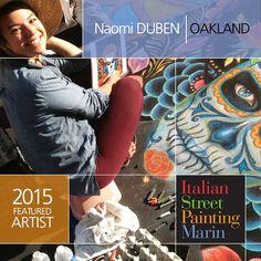 Catch Madonnara Naomi Duben in action at Italian Street Painting Marin's Carnevale di Venezia event in downtown San Rafael, California 6/27 & 6/28!  #artfestival #streetpainting #SFBayArea #chalkart #fineart