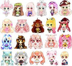 Baby Chibis that were commissioned ©Artwork-Powder-Puff Baby Batch 3 Chibi Kawaii, Cute Anime Chibi, Kawaii Art, Cute Anime Character, Cute Characters, Character Art, Chibi Girl Drawings, Cute Kawaii Drawings, Cute Kawaii Girl