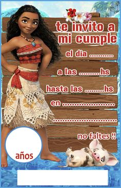 cumple de moana | Kit imprimible candy bar Moana para cumpleaños | Candy Bar ... Moana Party, Moana Theme Birthday, Baby Girl Names Unique, Invitation Background, Ideas Para Fiestas, Fiesta Party, Wonderland Party, Luau, Holidays And Events