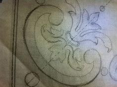 Pounce pattern for Gilded Ornament Panels