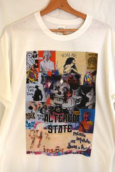 """Altered State"" design realised into product. Punk, Mens Tops, T Shirt, Shopping, Design, Fashion, Supreme T Shirt, Moda, Tee Shirt"