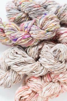 Cast Away yarn by Knit Collage ~ bulky colorful handspun yarn, #knitspiration, #handspun, #knittingwithlove,