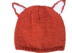 Adult Fox Hat Knitted women men baby child  by thekittensmittensuk, £9.99