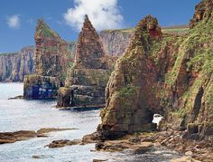 Stacks of Duncansby at Caithness, Scotland