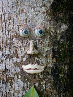 Blue Eyed Tree Face by Uturn on Etsy, $30.00