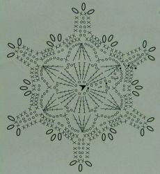 snowflake More – Snowflakes World Crochet Snowflake Pattern, Crochet Stars, Crochet Snowflakes, Thread Crochet, Crochet Stitches, Crochet Diagram, Crochet Motif, Crochet Doilies, Crochet Flowers