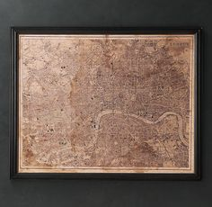 Map of London c. 1890 $1295