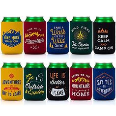 camping theme gifts - Avery Barn Mixed Design Camp Theme Neoprene Zipper Sleeve Insulated Beer Can Covers - Set Great Outdoors ** Click image for more details. (This is an affiliate link) Camping Theme, Camping Hacks, Camping Beds, Better Life, Barn, Canning, Outdoors, Zipper, Design