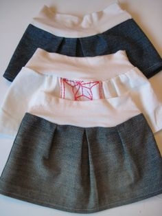 homemade by jill: baby jean skirt - guest tutorial at kojo designs