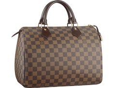Louis Vuitton Damier Ebene Speedy 30 Bandoliere