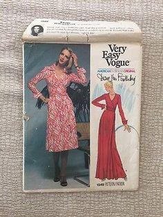 VINTAGE-Vogue-Sewing-Pattern-1549-Diane-von-Furstenberg-Size12