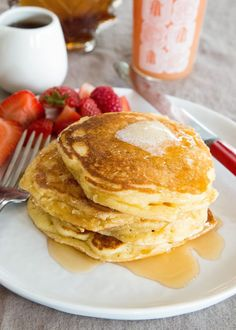 recipe. Looking for fluffy and airy? Our lofty buttermilk pancakes ...