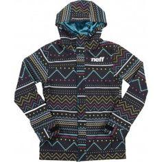 Neff Lush Softshell Womens Snowboard Jacket - Bergman Black #GetEternalGear