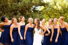 Navy bridesmaid dress- I'm obsessed with this color