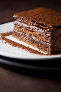Milhojas con mousse de chocolate - TELVA