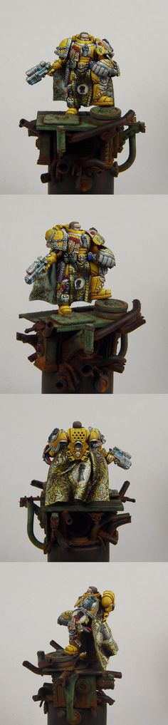 Imperial fists spacemarine captain #miniatures #warhammer40k #40k