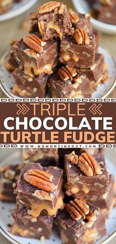 Nutella Fudge, Fudge Brownies, Caramel Fudge, Caramel Candy, Fudge Cake, Just Desserts, Delicious Desserts, Dessert Recipes, Dinner Recipes
