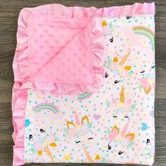 Pink Unicorn Minky Blanket - Sparkle in Pink Baby Unicorn, Unicorn Baby Clothes, Unicorn Land, Cute Baby Shoes, Soft Baby Blankets, Minky Blanket, My Baby Girl, Baby Items, Baby Dolls