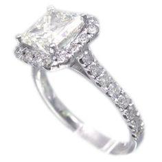 Princess Cut Halo Engagement Rings No Side Stones 10