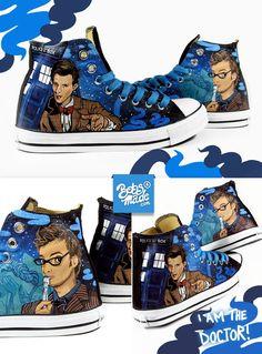 Custom Doctor Who Converse Chucks.