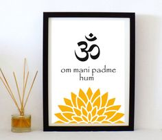 Om printable poster  om  mani padme hum   by LilaBenharush on Etsy