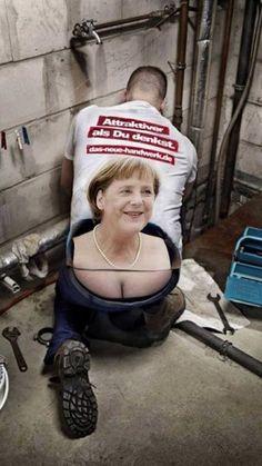 Angela Merkel - Attraktiver Handwerker   WitzeMaschine