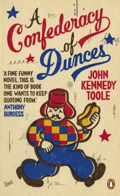 A CONFEDERACY OF DUNCES BY JOHN KENNEDY TOOLE |PENGUIN | MIXED MEDIA ON PAPER - ILLUSTRATION AND TYPOGRAPHY BY GARY TAXALI | ©GARY TAXALI