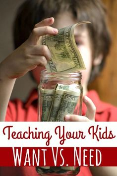 How to Teach Your Kids Want vs. Need - As adults, your kids will need to know the difference between a want and a need. Teaching your kids want vs. need early in life helps set them up a successful financial future even if adulthood is years away! Parenting Advice, Kids And Parenting, Practical Parenting, Teaching Kids, Kids Learning, Life Skills, Life Lessons, Piano Lessons, Parents