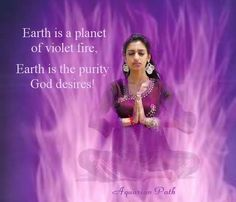 The Violet Flame. Giving the violet flame daily can change yourself and the Earth for the better! Spiritual Images, Spiritual Prayers, Spiritual Enlightenment, Spiritual Awakening, Guided Mindfulness Meditation, Llama Violeta, Save Mother Earth, Angel Guide, Ascended Masters