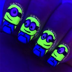 glow in the dark nails - Google Search
