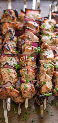 A simple, excellent recipe for Grilled Pork Shish Kabobs. See our tips and tricks for flavorful and tender, crowd pleasing pork kabobs. | natashaskitchen.com #porkkabobs #kabobs #kebabs #shishkabob #shishkabobs #porkrecipes #porktenderloin #porktenderloinrecipes #howtocookpork #pork #bbq #grilling #grillingrecipes #skewers
