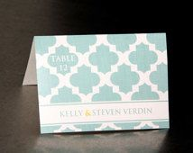 Wedding Place Cards  - Moroccan Pattern   - Escort Cards Favor Tags Custom Designed