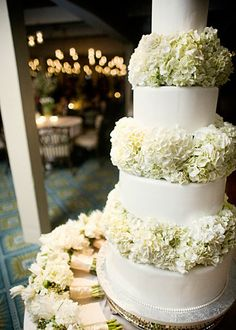 My wedding cake but with a slightly textured butter cream instead of smooth icing. Love the flowers :)