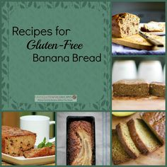 10 Recipes for Gluten-Free Banana Bread | You can never have too many gluten free bread recipes, especially banana bread recipes. These recipes for banana bread are easy to make and taste great!