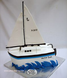 Sailboat Cake Ideas Sailing Boat _ Sailing Boat Cake - Sailboat about you searching for. Pirate Boat Cake, Sailboat Cake, Pastries Images, Pink Cake Box, Crazy Cakes, Cakes For Boys, Novelty Cakes, Pastry Cake, Celebration Cakes