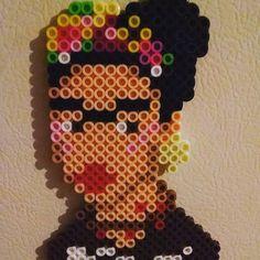 Frida Kahlo perler beads by delicatewatkins