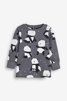 Buy Pink/Grey 3 Pack Panda Snuggle Pyjamas from the Next UK online shop Baby Boy Fashion, Toddler Fashion, Kids Fashion, Marvel Kids, Trendy Kids, Girls Pajamas, Fashion Fabric, Kids Wear, Pyjamas