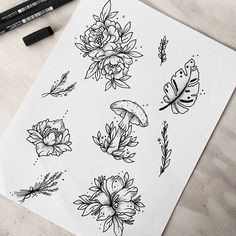 New drawing nature sketch 30 ideas Tattoo Sketches, Tattoo Drawings, Body Art Tattoos, Art Drawings, Tatoos, Doodle Drawing, Mushroom Tattoos, Petit Tattoo, Tattoo Portfolio