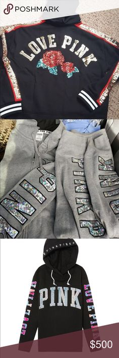 Not For Sale Victoria Secret Bling Lace Up Hoodie Omg I'm drooling look at the last pic I just  top seen this one today Tops Sweatshirts & Hoodies
